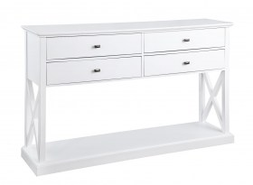 PORTLAND TV UNIT CONSOLE - WHITE